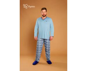 Pijama Plus Size Outono inverno Masculino ( 90049)