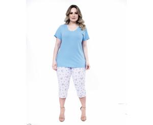 Pijama Plus Size Capri Paulienne ( 10363)