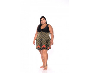 Maiô Plus Size Sainha ( 211032claudete)