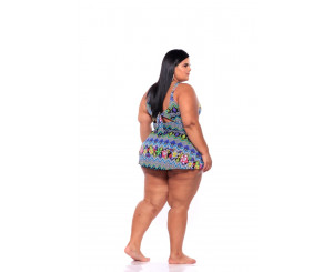 Maiô Plus Size Sainha ( 211010)