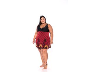 Maiô Plus Size Sainha ( 211032Angélica)