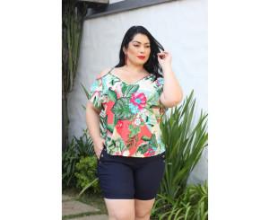 Blusa Plus Size Floral ( MAB23 )