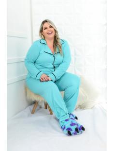 Pijama Plus Size Longo Feminino (212015verde)