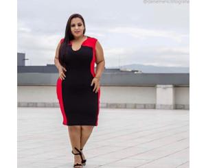 Vestido de Malha Crepe Plus Size (RPVT01)