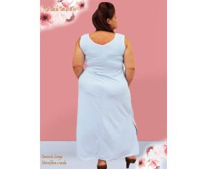 Camisola Plus Size Liganete Branca 181007B