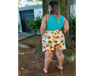 Shorts Meia Coxa Plus Size 191015