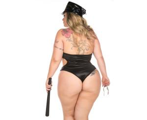 Fantasia Plus Size Policial Luxo (2072)