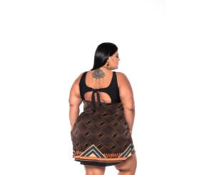 Maiô Plus Size Sainha ( 211032Neuza)